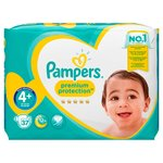Pampers Premium Protection Nappies Size 4+ Essential Pack