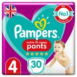 Pampers Premium Protection Pants Size 4, 34 Nappy Pants, Essential Pack