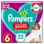 Pampers Premium Protection Active Fit Nappy Pants Size 6