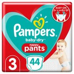 Pampers Baby-Dry Pants Size 3, 44 Nappy Pants