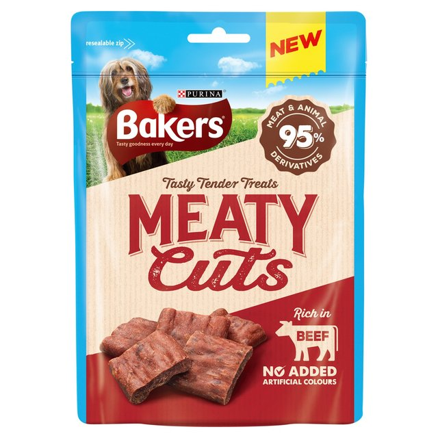 Bakers meaty cuts dog treats beef 70g from ocado bakers meaty cuts dog treats beef publicscrutiny Image collections