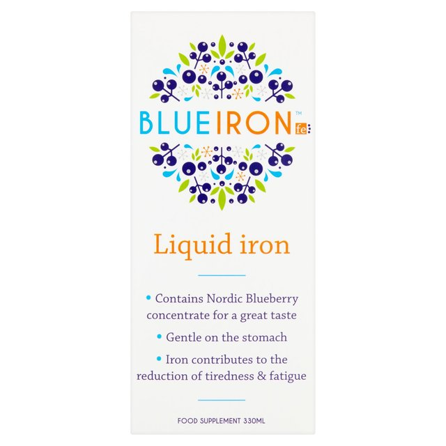 Blueiron Liquid Iron Supplement with Nordic Blueberries