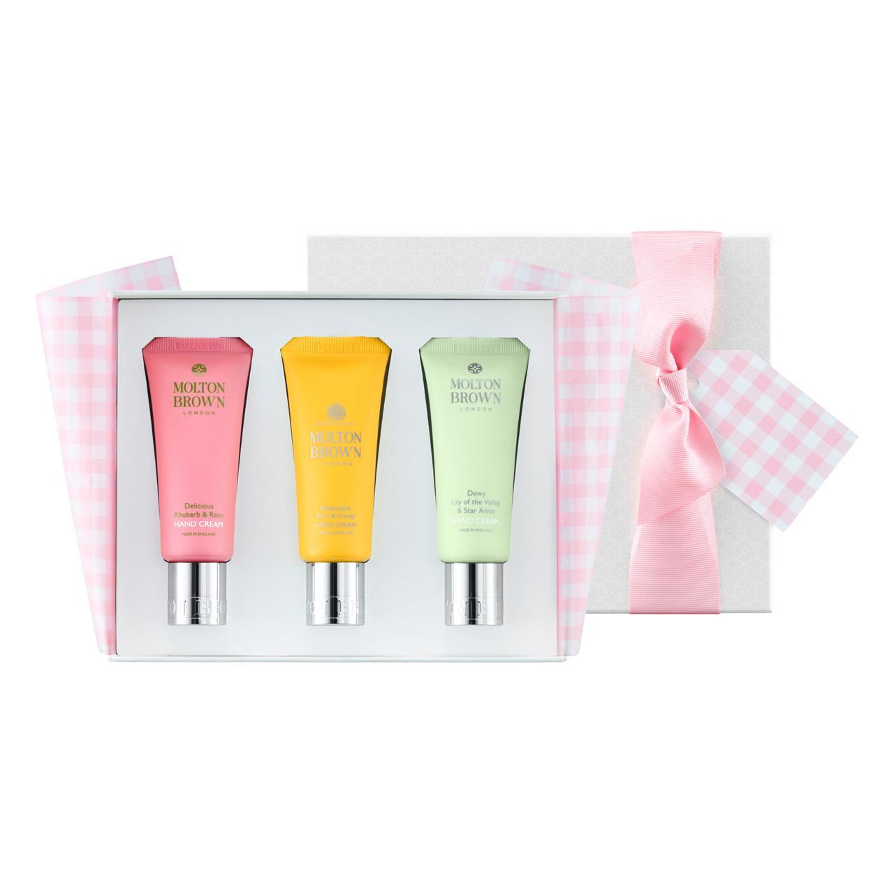 An image of Molton Brown Spring Indulgences Hand Cream Gift Trio
