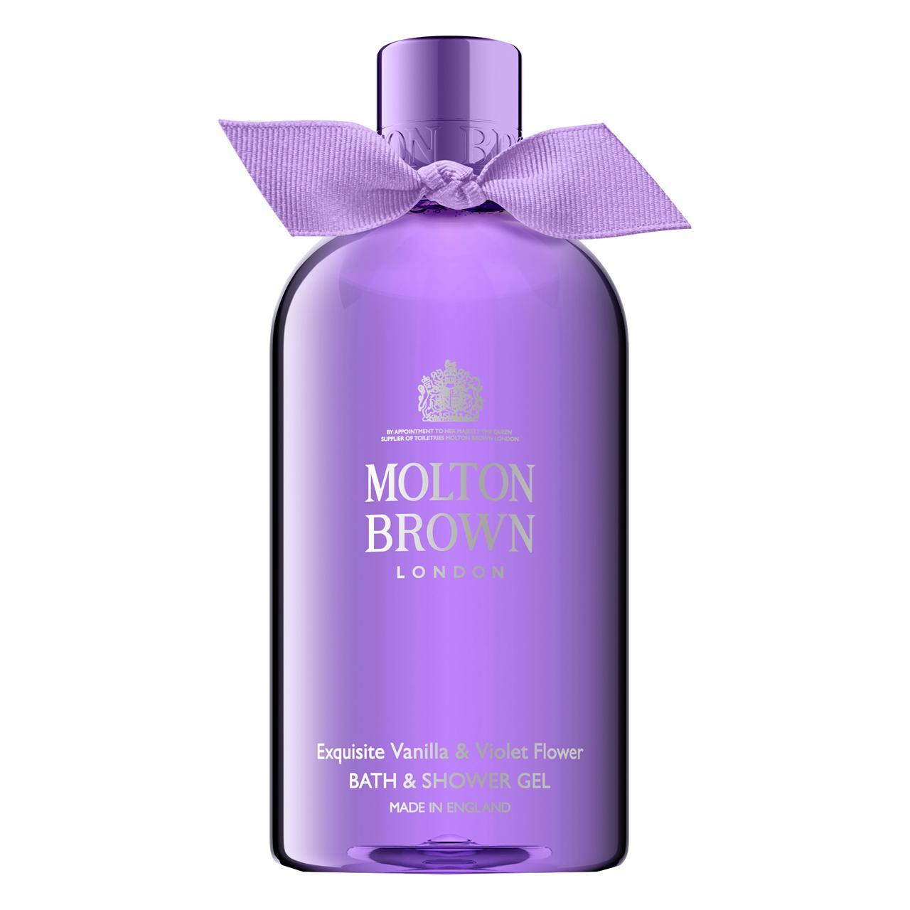 An image of Molton Brown Exquisite Vanilla & Violet Flower Bath & Shower Gel