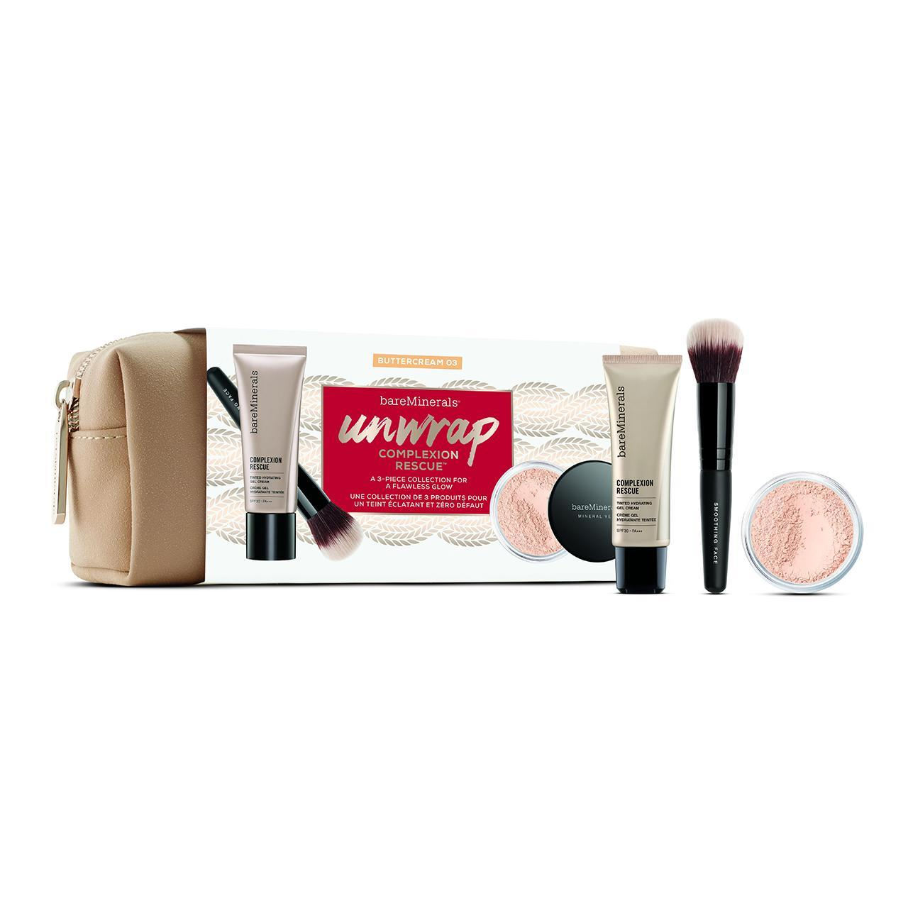 An image of bareMinerals Complexion Rescue Try Me Kit- Buttercream