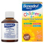 Benadryl Allergy Oral Solution for Children, 6+yrs