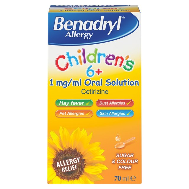 Benadryl Allergy Oral Solution for Children, 6+yrs | Ocado