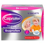 Calprofen Ibuprofen Sugar Free Strawberry Sachets, 3+mths