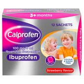 Calprofen Strawberry Sugar Free Sachets, 3+mths