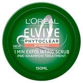 L'Oreal Elvive Phytoclear Anti-Dandruff 1 Minute Exfoliating Scrub at Ocado