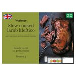 Waitrose Slow Cooked Lamb Kleftico