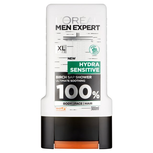 l 39 oreal men expert hydra sensitive shower gel 300ml from ocado. Black Bedroom Furniture Sets. Home Design Ideas