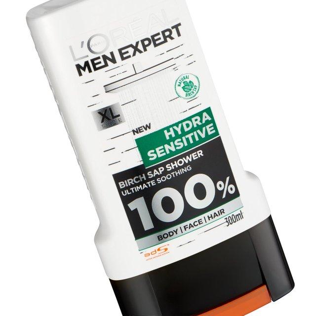 L'Oreal Men Expert Hydra Sensitive Shower Gel 300ml from Ocado