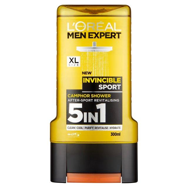 L'Oreal Men Expert Invincible Sport Shower Gel 300ml from Ocado