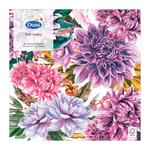 Purple Dahlias 3ply Paper Napkins, 33cm