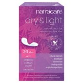 Natracare Organic Cotton Dry & Light Incontinence pads Slim