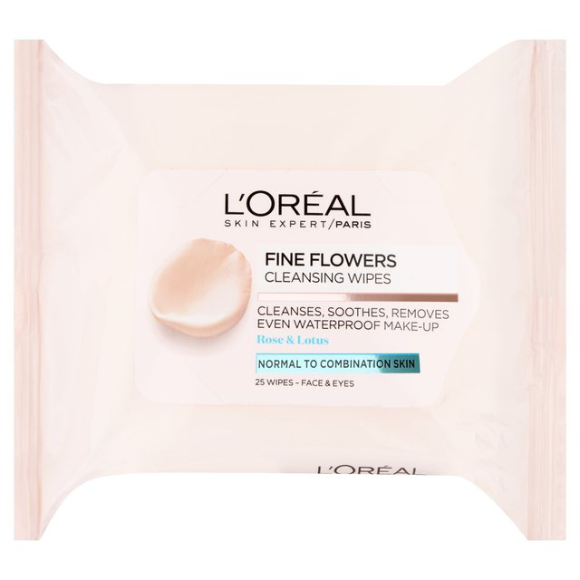 L'Oreal Paris Fine Flowers Cleansing Wipes-Normal to Combination Skin