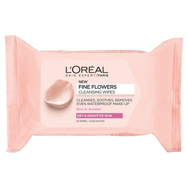 L'Oreal Paris Fine Flowers Cleansing Wipes-Dry & Sensitive Skin