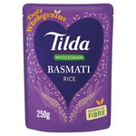 Tilda Wholegrain Brown Microwave Basmati Rice