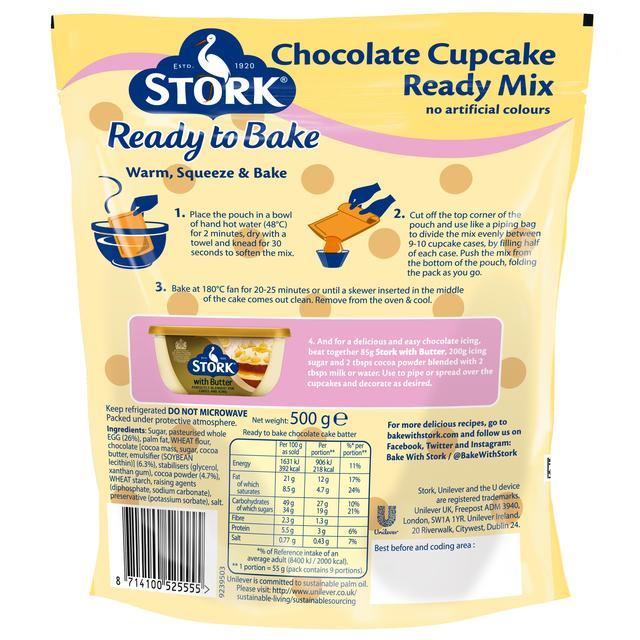 stork cupcake ready mix