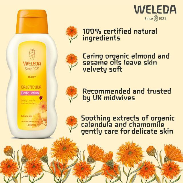 weleda calendula baby lotion