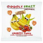 Googly Fruit Organic Crunchy Corn, Banana & Strawberry Puffs