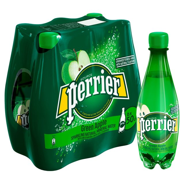 Perrier Green Apple Sparkling Mineral Water 6 x 500ml from ...