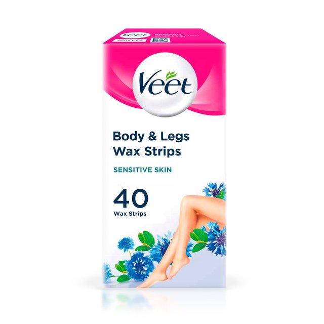 Veet Cold Wax Strips For Body Sensitive Skin Ocado