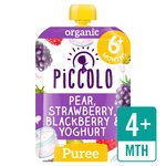 Piccolo Organic Pear, Strawberry & Blackberry Yoghurt