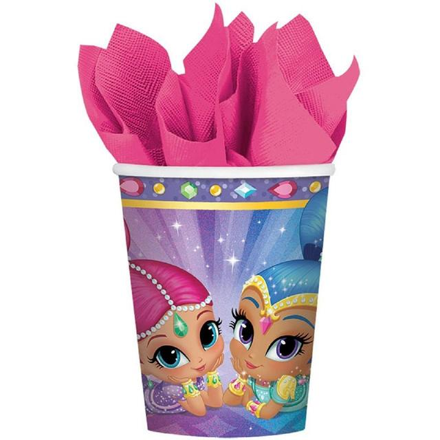 Shimmer & Shine Paper Cups, 266ml