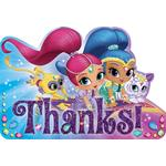 Shimmer & Shine Thank you Cards