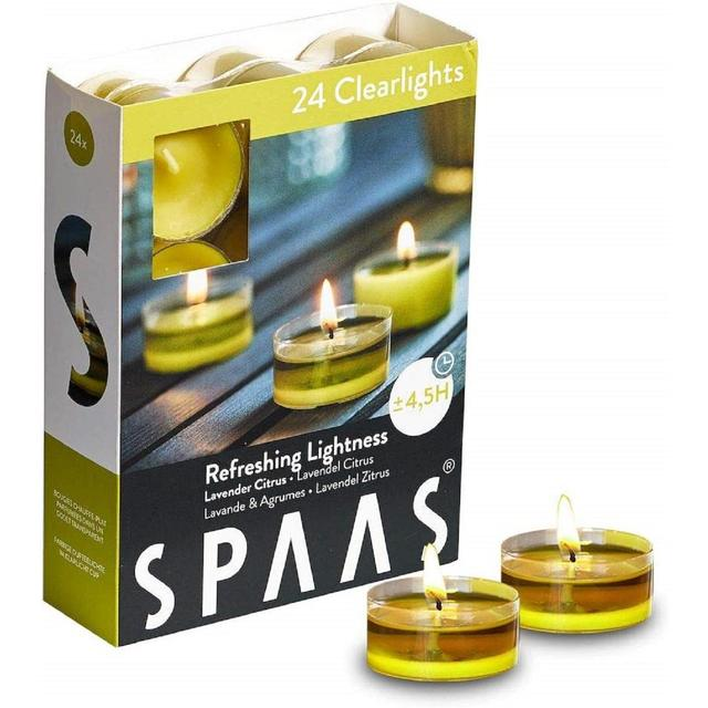 Spaas Clear Scented Tealights Lavender & Citrus