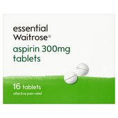 essential Waitrose Aspirin 300mg Tablets