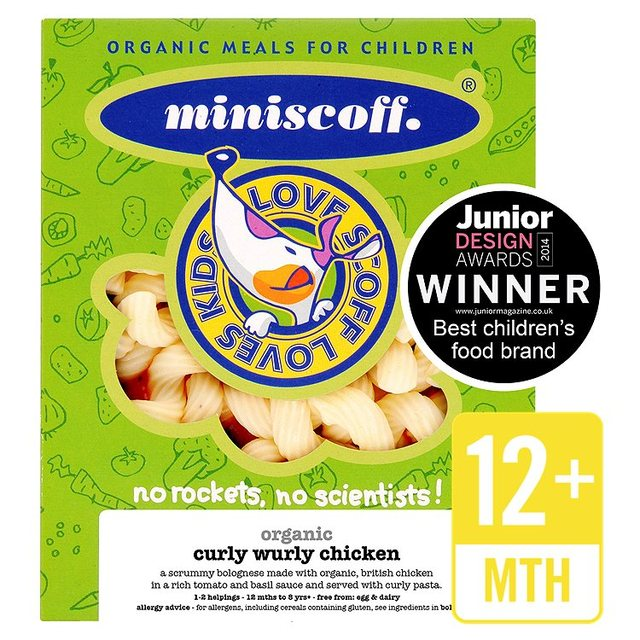 Miniscoff Organic Curly Wurly Chicken Frozen