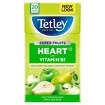 Tetley Super Fruit Heart Apple & Pear Tea Bags