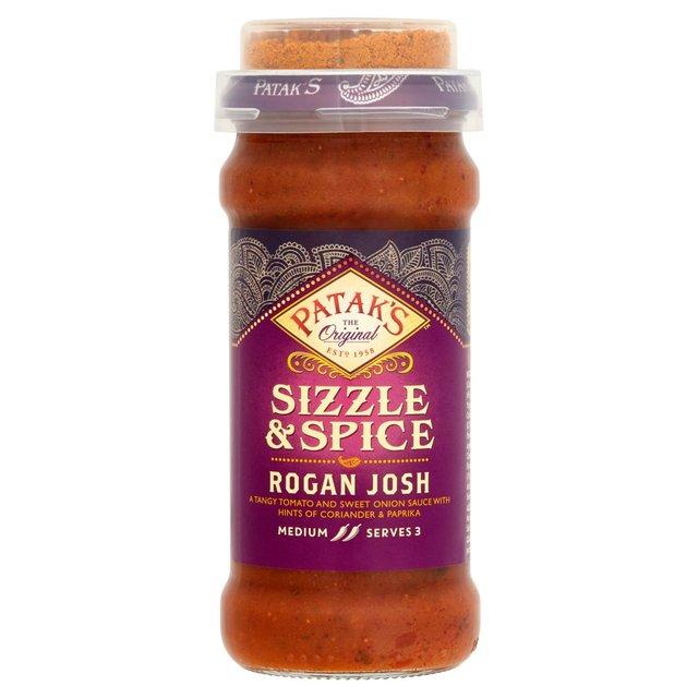 Pataks Sizzle Spice Rogan Josh Curry Sauce Ocado