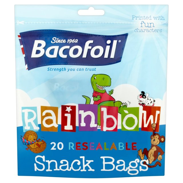 Bacofoil Reasealable Rainbow Snack Bags 130x120mm