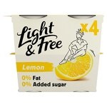 Light & Free Lemon Yogurts