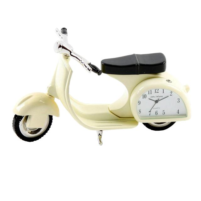 Miniature Vespa Clock, Cream