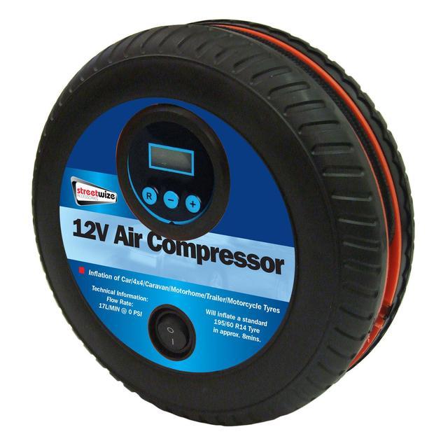 Streetwize Tyre Shape with Digital Gauge Air Compressor