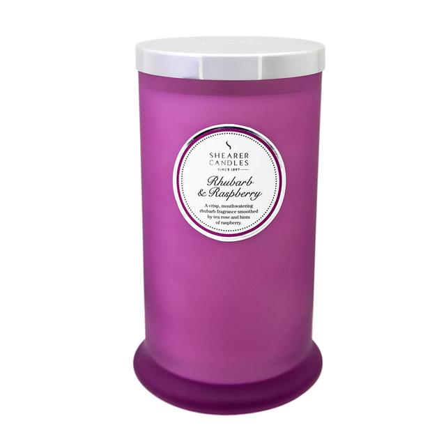 Shearer Candles Rhubarb & Raspberry Scented Pillar Candle Jar, 100hr