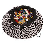 Play & Go Toy Storage Bag & Playmat, Zig Zag Black