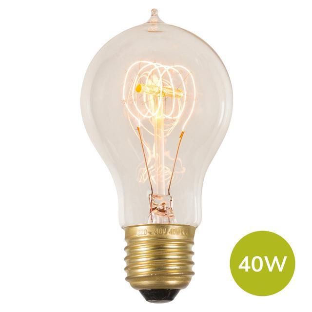 Vintage Quad Loop Filament Classic Light Bulb E27 40W