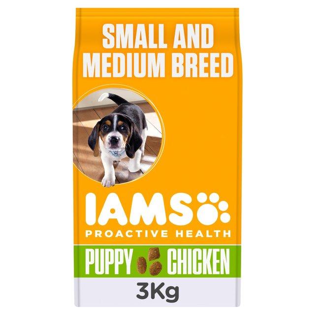 Iams puppy junior small medium breed large dry dog food 3kg from ocado