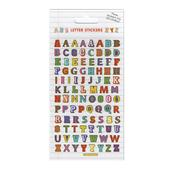 Colourful Letters Stickers, 3yrs+