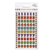 Colourful Numbers Stickers, 3yrs+