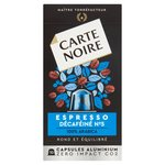 Carte Noire No 5 Decafeine Nespresso Compatible