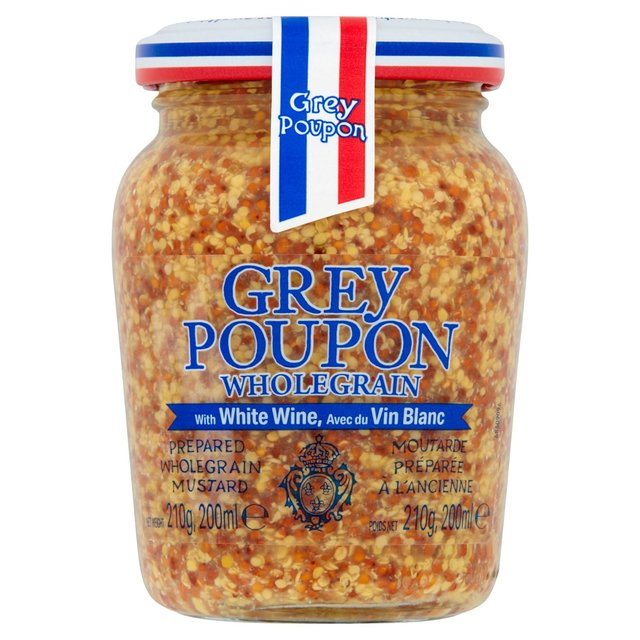 grey poupon old style seed mustard 210g from ocado