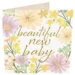 Caroline Gardner Beautiful New Baby Card