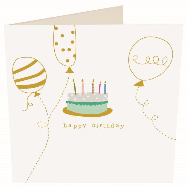 Caroline Gardner Happy Birthday Cake Card